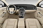 Stock photo of straight dashboard view of 2015 Volvo V60 T5 Drive-E FWD Door wagon Dashboard