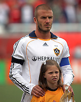 David Beckham in the lineup of the Los Angeles Galaxy vs Real Salt Lake 2-2 draw at Rice Eccles Stadium in Salt Lake City, Utah on  May 3, 2008