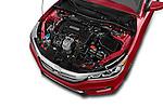 Car Stock 2017 Honda Accord Sport 4 Door Sedan Engine high angle detail view