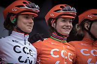 Marianne Vos (NED/CCC-Liv) pre race <br /> <br /> 3th Liège-Bastogne-Liège-Femmes 2019 (1.WWT)<br /> 1 Day Race: Bastogne – Liège 138,5km<br /> <br /> ©kramon