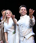 """Kelli O'Hara and Corbin Bleu during the Broadway Opening Night Curtain Call for """"Kiss Me, Kate""""  at Studio 54 on March 14, 2019 in New York City."""
