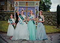 """Queen of Eyam Wakes, Beckii Brindley is crowned by Mrs Felicity White. She is accompanied by Junior Queen Holly Thornton, Personality Queen Sophie Kellett, and Retiring Queen Sophie Andrews. """"If thereís one thing Iíve learned in life, itís to fight. Fight for whatís right. Fight for what you believe in, whatís important to you. But most importantly, fight for the ones you love, and never forget to tell how much they mean to you while they're still alive."""""""