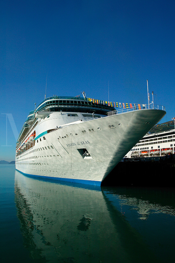 The Royal Caribbean cruiseship Vision of the Seas in Seward, Alaska