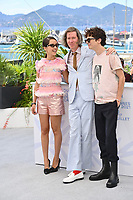 CANNES, FRANCE. July 13, 2021: Lyna Khoudri, Wes Anderson & Timothee Chalamet at the photocall for Wes Anderson's The French Despatch at the 74th Festival de Cannes.<br /> Picture: Paul Smith / Featureflash