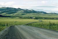Winding Dempster Highway, Yukon Territory, Canada