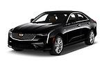 2020 Cadillac CT4 Premium-Luxury 4 Door Sedan Angular Front automotive stock photos of front three quarter view