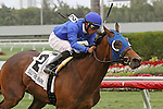 March 29, 2014: #2 Anjaz with jockey Rajiv Maragh on board wins the Orchid Stakes G3 wire to wire at Gulfstream Park in Hallandale Beach, FL. Liz Lamont/ESW/CSM