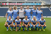 Bridgeview, IL - Wednesday August 16, 2017: Chicago Red Stars Starting XI during a regular season National Women's Soccer League (NWSL) match between the Chicago Red Stars and the Seattle Reign FC at Toyota Park. The Seattle Reign FC won 2-1.