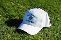 Sept. 16, 2009; Casa Grande, AZ, USA; Detailed view of a California Redwoods hat during training camp at the Casa Grande Training Facility & Performance Institute. Mandatory Credit: Mark J. Rebilas-