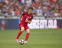 Commerce City, CO - Thursday June 08, 2017: Christian Pulisic during a 2018 FIFA World Cup Qualifying Final Round match between the men's national teams of the United States (USA) and Trinidad and Tobago (TRI) at Dick's Sporting Goods Park.