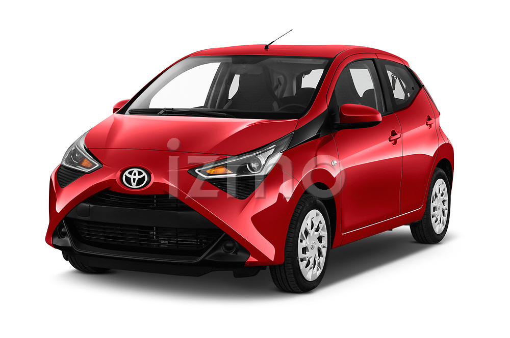 2019 Toyota Aygo x-Play 5 Door Hatchback Angular Front stock photos of front three quarter view