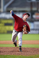Mahoning Valley Scrappers relief pitcher Michael Letkewicz (39) during the first game of a doubleheader against the Batavia Muckdogs on August 17, 2016 at Dwyer Stadium in Batavia, New York.  Mahoning Valley defeated Batavia 10-3.  (Mike Janes/Four Seam Images)
