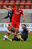 Jack Powell of Crawley Town   and Aaron Wildig of Morecambe during Crawley Town vs Morecambe, Sky Bet EFL League 2 Football at Broadfield Stadium on 17th October 2020
