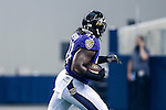 Baltimore Ravens outside linebacker Courtney Upshaw (91) in action during the pre-season game between the Baltimore Ravens and the Dallas Cowboys at the AT & T stadium in Arlington, Texas. Baltimore defeats Dallas  37-30.