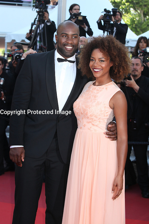 TEDDY RINER WITH HIS WIFE - RED CARPET OF THE FILM 'ELLE' AT THE 69TH FESTIVAL OF CANNES 2016