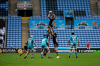 21st August 2020; Ricoh Arena, Coventry, West Midlands, England; English Gallagher Premiership Rugby, Wasps versus Worcester Warriors; Ben Morris of Wasps catches the ball in a line out during the Gallagher Premiership Rugby match between Wasps and Worcester Warriors at Ricoh Arena on August 21st 2020 in Coventry England