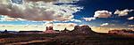 Panoramic view of Monument Valley, Utah
