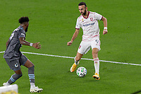 ST PAUL, MN - SEPTEMBER 27: Justin Meram #9 of Real Salt Lake during a game between Real Salt Lake and Minnesota United FC at Allianz Field on September 27, 2020 in St Paul, Minnesota.