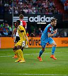 Nederland, Rotterdam, 11 mei 2015<br /> Eredivisie<br /> Seizoen 2014-2015<br /> Feyenoord-Vitesse<br /> Jan-Arie van der Heijden van Vitesse juicht nadat hij een doelpunt heeft gemaakt