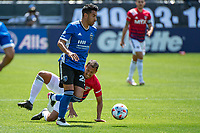 SAN JOSE, CA - APRIL 24: Andres Rios #25 of the San Jose Earthquakes dribbles the ball during a game between FC Dallas and San Jose Earthquakes at PayPal Park on April 24, 2021 in San Jose, California.