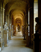 The Antique Passage at Castle Howard.  The gilded plinths for the antique statuary collected by the Howard family were designed by William Kent