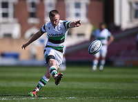 24th April 2021; Kingsholm Stadium, Gloucester, Gloucestershire, England; English Premiership Rugby, Gloucester versus Newcastle Falcons; Brett Connon of Newcastle Falcons kicks a conversion