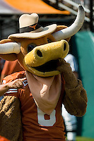 02 September 2006: University of Texas mascot, Hook'em, struts his stuff prior to the Longhorns' game against the University of North Texas at Darrell K Royal Memorial Stadium in Austin, TX.