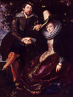 Peter Paul Rubens 1577-1640. Rubens and Isabella Brant under the Honeysuckle.  Isabella is Ruben's wife.  Reference only.