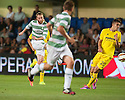 Celtic's Berget scores their second goal.