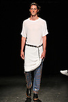 Model Nick walks runway in an outfit from the Linder Spring Summer 2017 collection by Sam Linder and Kirk Millar on July 11 2016, during New York Fashion Week Men's Spring Summer 2017.