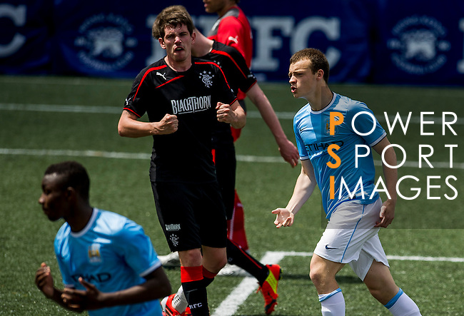 Manchester City vs Rangers during the Day 2 of the HKFC Citibank Soccer Sevens 2014 on May 24, 2014 at the Hong Kong Football Club in Hong Kong, China. Photo by Victor Fraile / Power Sport Images