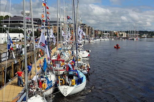 The maritime scene in Derry during the last Clipper Race visit in 2018