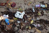 Plastic garbage beach