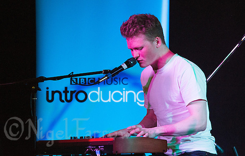 08 APR 2016 - STOWMARKET, GBR - James Spankie performs during a recording for BBC Introducing at the John Peel Centre for Creative Arts in Stowmarket, Suffolk, Great Britain (PHOTO COPYRIGHT © 2016 NIGEL FARROW, ALL RIGHTS RESERVED)