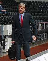 Arsenal manager Arsene Wenger arrives before the Barclays Premier League match between Swansea City and Arsenal played at The Liberty Stadium, Swansea on October 31st 2015