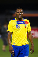 Juan Luis Amangono (13) of Ecuador. Ecuador defeated Chile 3-0 during an international friendly at Citi Field in Flushing, NY, on August 15, 2012.
