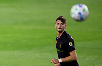 LOS ANGELES, CA - SEPTEMBER 02: Tristan Blackmon #27 of LAFC moves to the ball during a game between San Jose Earthquakes and Los Angeles FC at Banc of California stadium on September 02, 2020 in Los Angeles, California.