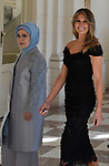 Sommet de l'OTAN: les epouses des chefs d'Etat recues par la Reine Mathilde au Chateau de Laeken <br />melanie trump