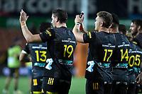 27th March 2021; Hamilton, New Zealand;  Chiefs celebrate a win.<br /> Chiefs versus Blues, Super Rugby  AOTEAROA, FMG Waikato Stadium, Hamilton, New Zealand.