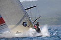 Louis Vuitton Trophy La Maddalena 2 giugno 2010. Mascalzone Latino approccia la boa durante una regata con i brittannici di Team Origin nelle ultime fasi del Round Robin