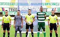 VALLEDUPAR - COLOMBIA, 27-03-2021: Valledupar F.C. y Tigres F.C. en partido por la fecha 13 del Torneo BetPlay DIMAYOR I 2021 jugado en el estadio Armando Maestre Pavajeau de la ciudad de Valledupar. / Valledupar F.C. and Tigres F.C. in match for the for the date 13 as part of BetPlay DIMAYOR Tournament I 2021 played at Armando Maestre Pavajeau stadium in Valledupar city. Photo: VizzorImage / Adamis Guerra / Cont