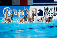 Democratic People's Republic of Korea PRK<br /> Synchronised swimming, Synchro<br /> Women's Team Technical Preliminary Technical Routine<br /> Day 03 16/07/2017 <br /> XVII FINA World Championships Aquatics<br /> City Park - Varosliget Lake<br /> Budapest Hungary July 14th - 30th 2017 <br /> Photo @ A.Masini/Deepbluemedia/Insidefoto