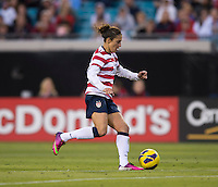 Carli Lloyd.  The USWNT defeated Scotland, 4-1, during a friendly at EverBank Field in Jacksonville, Florida.