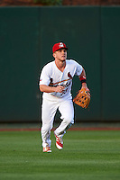 Springfield Cardinals center fielder Harrison Bader (33) during a game against the Northwest Arkansas Naturals on April 26, 2016 at Hammons Field in Springfield, Missouri.  Northwest Arkansas defeated Springfield 5-2.  (Mike Janes/Four Seam Images)