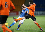 St Johnstone v Dundee Utd..10.11.15  SPFL Development League.  McDiarmid Park, Perth.<br /> Craig Thomson shoots for goal<br /> Picture by Graeme Hart.<br /> Copyright Perthshire Picture Agency<br /> Tel: 01738 623350  Mobile: 07990 594431