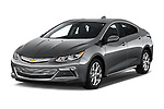 2018 Chevrolet Volt Premier 5 Door Hatchback Angular Front stock photos of front three quarter view