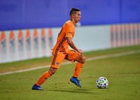 LAKE BUENA VISTA, FL - JULY 18: Tomás Martínez #10 of the Houston Dynamo looks for options during a game between Houston Dynamo and Portland Timbers at ESPN Wide World of Sports on July 18, 2020 in Lake Buena Vista, Florida.