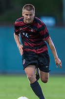 STANFORD, CA - August 19, 2014: Zach Batteer during the Stanford vs CSU Bakersfield men's exhibition soccer match in Stanford, California.  Stanford won 1-0.