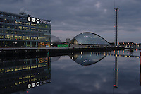 BBC Scotland the Science Centre and the River Clyde Glasgow<br /> <br /> Copyright www.scottishhorizons.co.uk/Keith Fergus 2011 All Rights Reserved