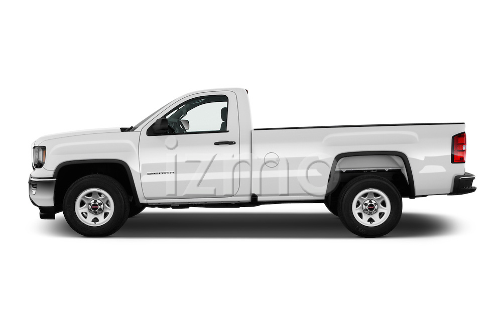 Car Driver side profile view of a 2017 GMC Sierra-1500 Regular-Cab 2 Door Pickup Side View